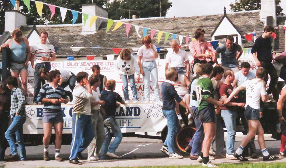 Big celebrations outside the Ardview Inn